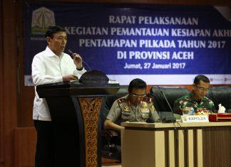 Wiranto pantau kesiapan akhir pentahapan Pilkada Aceh