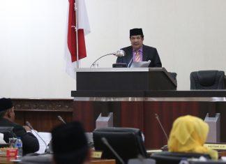 Foto: Sekda Aceh hadiri rapat paripurna dengarkan tanggapan Banleg DPRA
