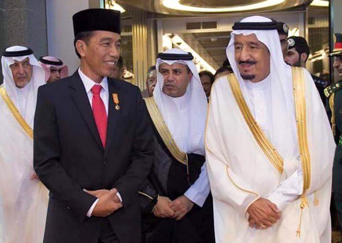 Image result for jokowi dan raja arab