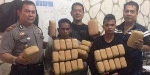 Ikut bawa ganja 30 kg dari Aceh ke Medan, satu pelajar diringkus