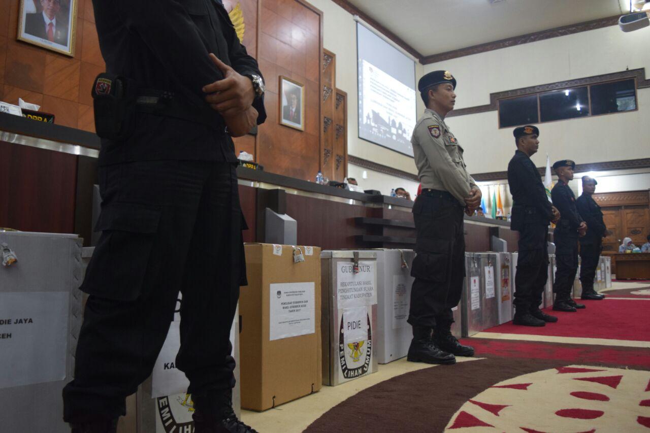 Rapat pleno KIP Aceh dikawal ketat