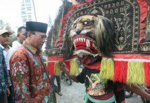 Tiba di Bener Meriah, Nasaruddin disambut Reog Ponorogo
