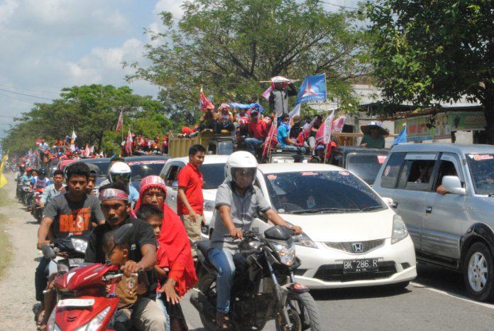 Ribuan kendaraan semarakkan konvoi Jadin di Nagan Raya
