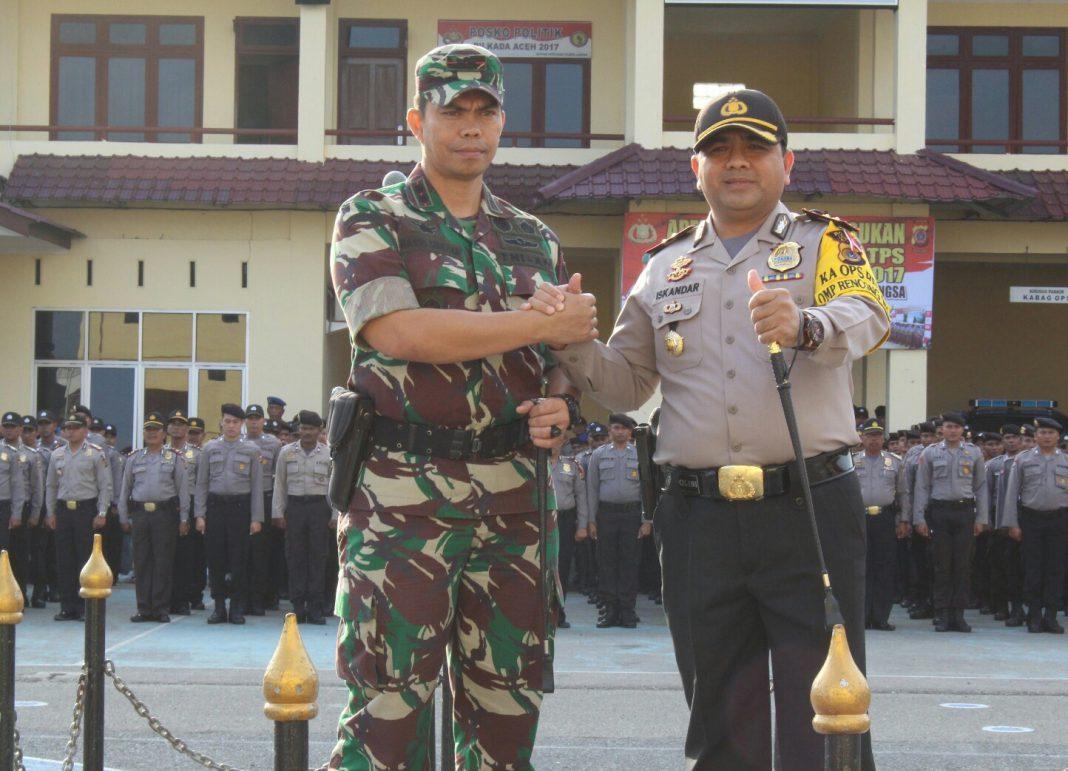 Kapolres Langsa dan Dandim geser pasukan pengamanan TPS