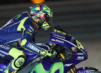 Rossi nikmati momen berada di depan Vinales dan Marquez