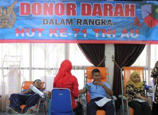 Gelar donor darah di HUT TNI AU, Lanud SIM kumpulkan 52 kantong darah