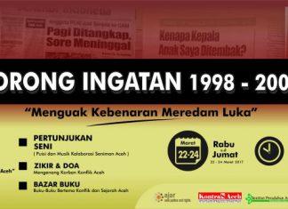Rabu, KontraS Aceh adakan Lorong Ingatan 1998-2005
