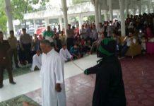 Lima orang dihukum cambuk di Lapangan Merdeka Langsa