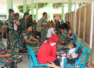 Kodim Aceh Timur donor darah bantu penderita Thalasaemia