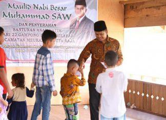 Daniel Abdul Wahab beri santunan kepada anak yatim