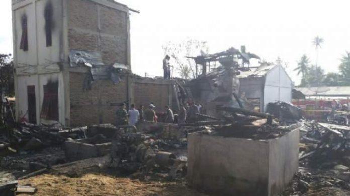 Empat rumah di Kutelintang musnah terbakar
