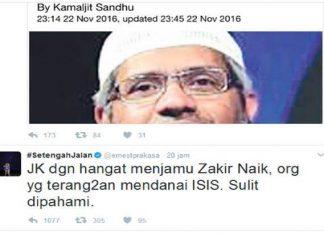 Ernest Prakasa tuding Zakir Naik donatur ISIS