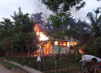 Akibat Korsleting listrik, rumah Suyatno terbakar di Paya Bakong