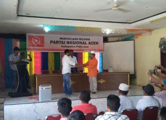 PNA Pidie Jaya gelar muswil, Usman A Jalil terpilih sebagai ketua