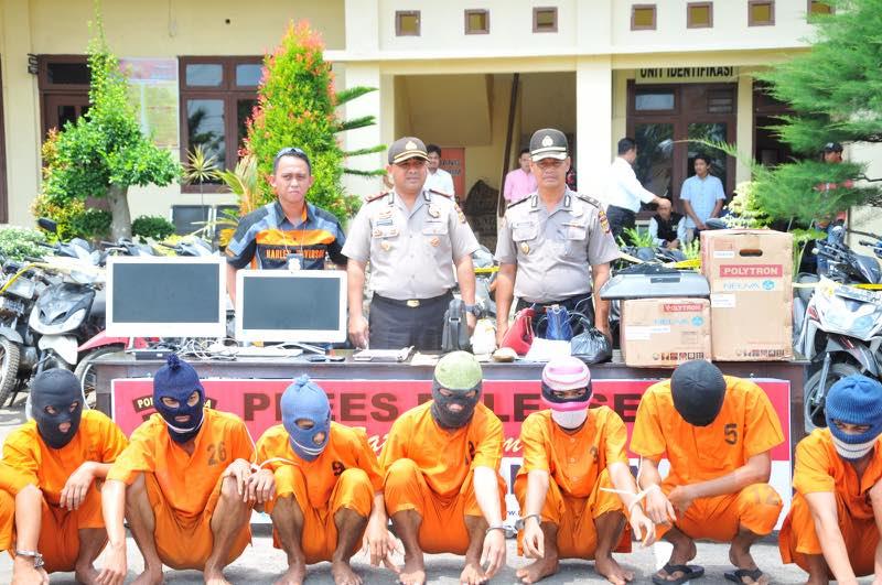 Polres Langsa tangkap 14 tersangka kasus kejahatan pidana
