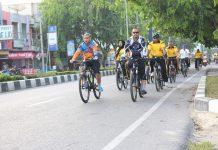 Kapolres Langsa pimpin olahraga bersepeda
