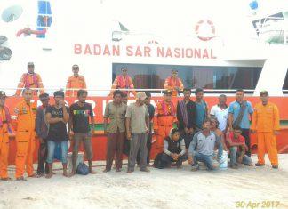 Nelayan korban Kapal yang terbakar siang ini tiba di Banda Aceh