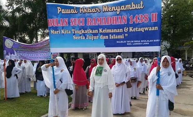 Sambut Ramadhan, ribuan warga Langsa ikut pawai akbar