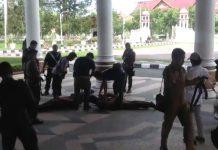 Buat gaduh di Kantor Gubernur Aceh, tiga pria diamankan