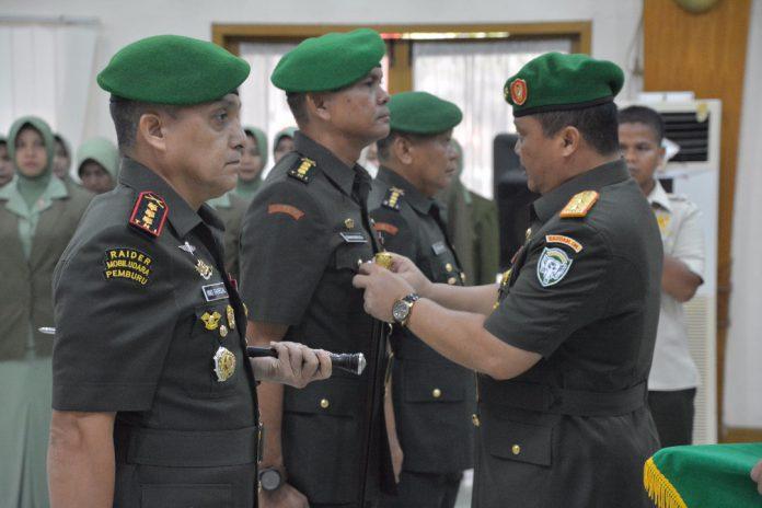 Mayjen TNI Fachrudin pimpin sertijab pergantian Kabintaldam dan Danrindam