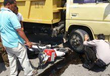 Laka lantas truk vs motor di Lhokseumawe, supir kabur