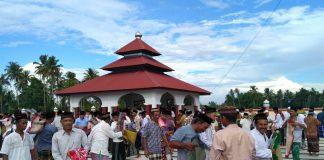 Di Nagan Raya, ribuan masyarakat shalat Idul Fitri hari ini