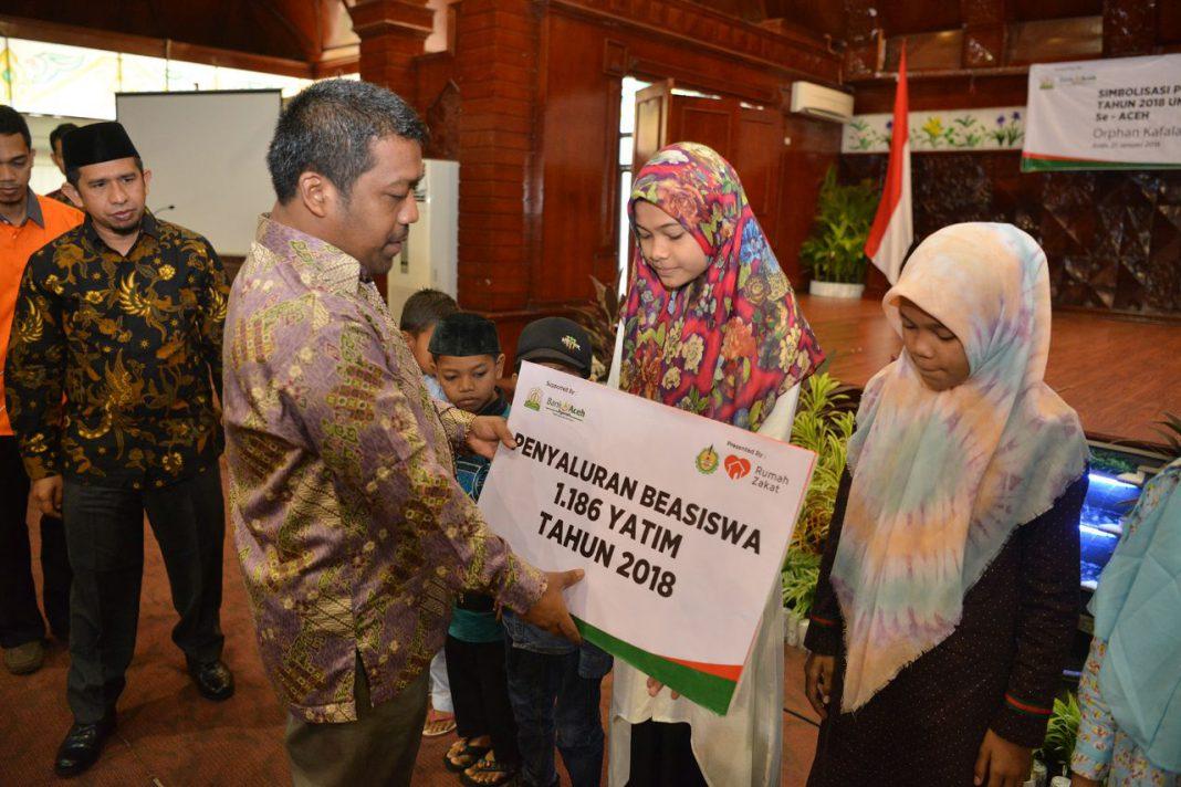 1.124 anak yatim di Aceh dapat beasiswa dari IDB dan Rumah Zakat