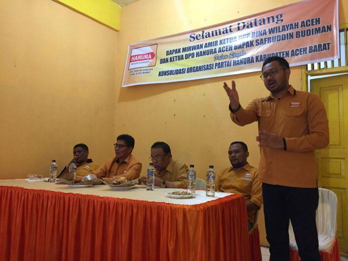 Hadapi 2018, Hanura safari politik dan konsolidasi di barat selatan Aceh