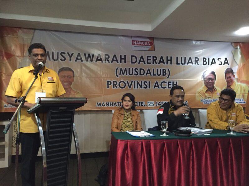 Musdalub di Jakarta, Ibnu Rusdi terpilih jadi Ketua DPD Hanura Aceh