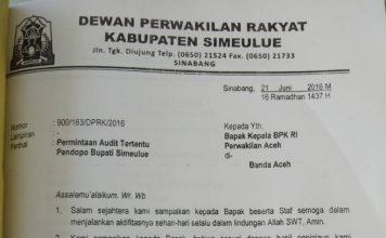 Rugi Rp 3,8 miliar, BPK didesak audit pembangunan Pendopo Simeulue