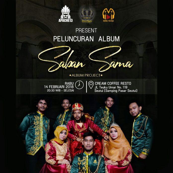 Gaet 3 penyanyi baru, Apache13 luncurkan album terbaru 'Saban Sama'