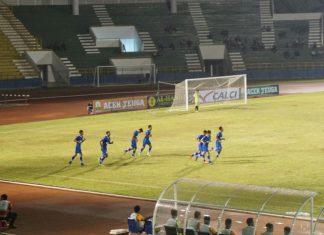 Babak pertama, Aceh United ertinggal dari PSPS Riau