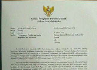 KPI Aceh ingin CNN Indonesia diberi sanksi tegas