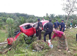 Mobil dinas KPP Pratama Meulaboh alami kecelakaan di Nagan