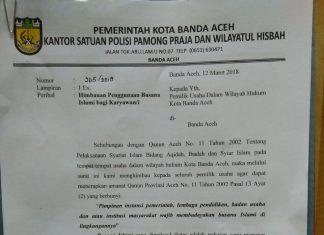 WH imbau seluruh karyawan di Banda Aceh berpakaian syariat