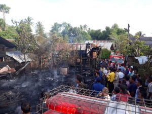 Korsleting kabel TV, tujuh rumah di Aceh Besar dilalap si jago merah