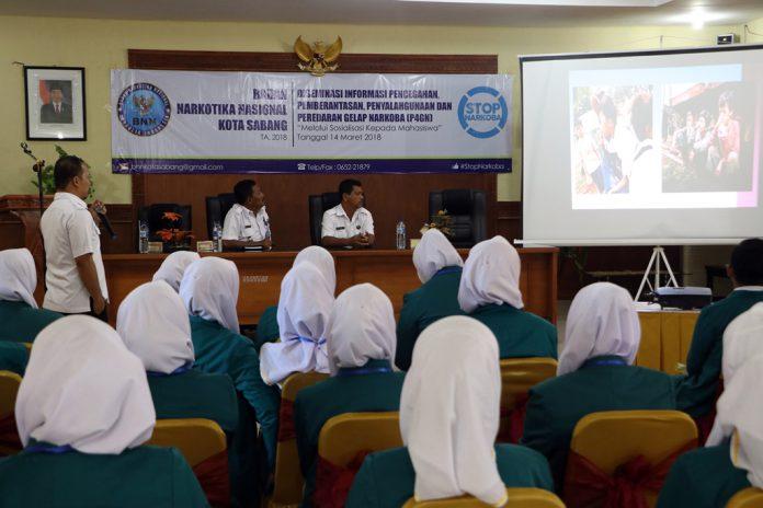 BNNK Sabang terapkan P4GN kepada mahasiswa