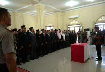 Bupati Abdya lantik ratusan pejabat eselon II dan III