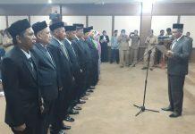 Jamin lantik 9 penjabat di lingkungan pemerintahan Nagan Raya
