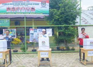 Siswa MAN 4 Aceh Utara Terapkan Pemilu Berbasis Elektrik