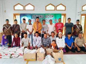 Peduli Covid-19, STISNU Aceh Bagi -Bagi Sembako