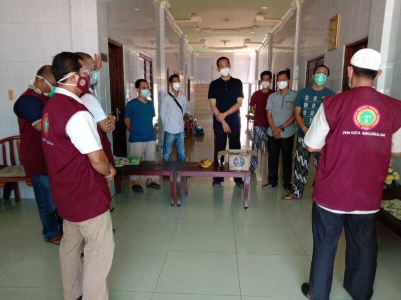 DPD PPNI Kota Subulussam Kunjungi Tenaga Kesehatan yang dikarantina