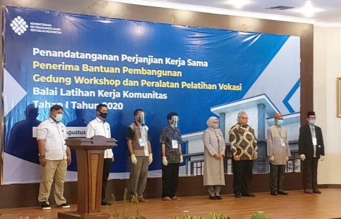 MoU Antara Yayasan Al-Multazam Aceh dengan Kemnaker RI.