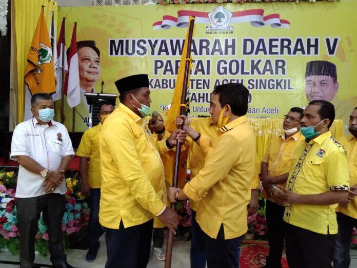Secara Aklamasi, Dulmusrid Terpilih Kembali Sebagai Ketua Golkar Aceh Singkil